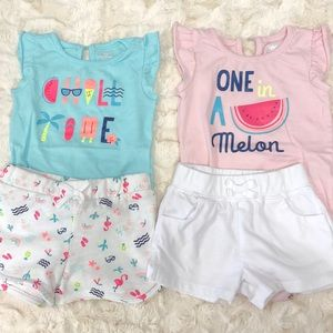 2 summertime outfits 3-6months